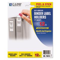 CLI70013 - C-Line® Self-Adhesive Ring Binder Label Holders