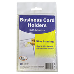 CLI70238 - C-Line® Self-Adhesive Business Card Holders