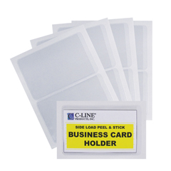 CLI70238BNDL5PK - C-Line ProductsSelf-Adhesive Side Load Business Card Holders, 2 x 3 1/2