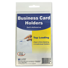 CLI70257 - C-Line® Self-Adhesive Business Card Holders