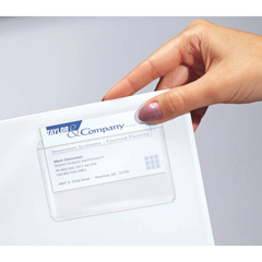 CLI70257BNDL5PK - C-Line ProductsSelf-Adhesive Top Load Business Card Holders, 2 x 3 1/2