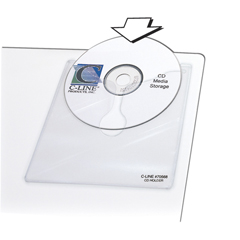 CLI70568BNDL5PK - C-Line ProductsSelf-Adhesive CD Holders, 5 1/3 x 5 2/3