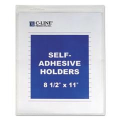 CLI70911EA - C-Line® Self-Adhesive Vinyl Shop Ticket Holder