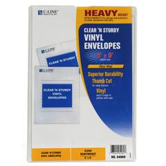 CLI84069BNDL50EA - C-Line ProductsClear N Sturdy Vinyl Envelopes, 6 x 9