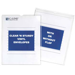 CLI86069BNDL50EA - C-Line ProductsClear N Sturdy Vinyl Envelopes w/Flap, 6 x 9