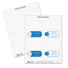 CLI87527 - C-Line ProductsInkjet/Laser Cardstock Name Tents, Scored, White, Small
