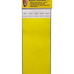 CLI89106BNDL2PK - C-Line Products - DuPont Tyvek Security Wristbands, Yellow