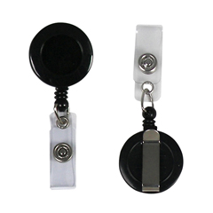 CLI89221 - C-Line ProductsRetracting ID Card Reels,Belt Clip w/Snap-on ID Strap, Black