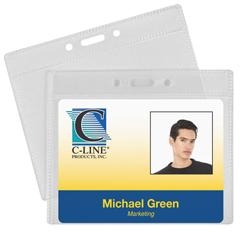 CLI89643BNDL2PK - C-Line ProductsID Badge Holders, Horizontal, 4 x 3