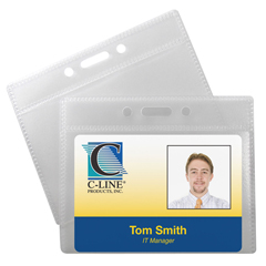 CLI89732BNDL5PK - C-Line ProductsID Badge Holders, Horizontal, 3 1/2 x 2 1/4