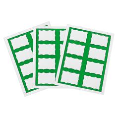 CLI92363 - C-Line ProductsLaser Printer Name Badges, Green Border , 8/Sheet, 3 3/8 x 2 1/3