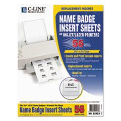 CLI92423 - C-Line® Additional Laser/Inkjet Badge Inserts