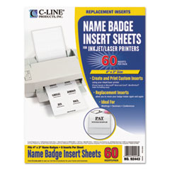 CLI92443 - C-Line® Additional Laser/Inkjet Badge Inserts
