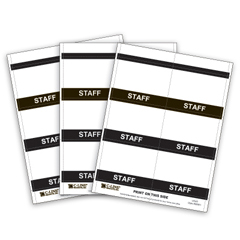 CLI92801 - C-Line ProductsInkjet/Laser Printer STAFF Name Badge Inserts, 4 x 3