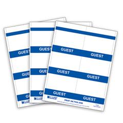 CLI92805 - C-Line ProductsInkjet/Laser Printer GUEST Name Badge Inserts, 4 x 3