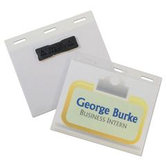 CLI92843 - C-Line® Self-Laminating Magnetic Style Name Badge Holder Kit