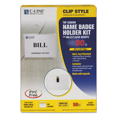 CLI95523 - C-Line ProductsClip Style Badge Holders, Sealed w/Inserts, 3 1/2 x 2 1/4