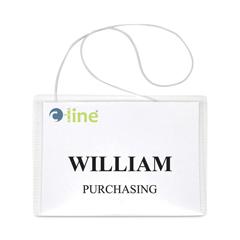 CLI96043 - C-Line ProductsHanging Style Name Badge Kit w/Elastic Cord, Sealed w/Inserts, 4 x 3