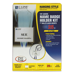 CLI96053 - C-Line ProductsHanging Syle Name Badge Kit w/Adjustable Cord, Executive Style