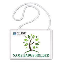 CLI97043 - C-Line ProductsBiodegradable Name Badge Holders Kit, 4 x 3