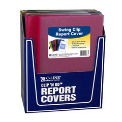 CLI99326BNDL12EA - C-Line ProductsClip N Go Report Cover