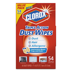 CLO31312 - Clorox® Triple Action Dust Wipes