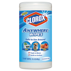 CLO31837 - Disinfecting Wipes, 7 x 8, Fragrance-Free, 75 Wipes/Canister, 6/Carton