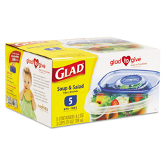 CLO60796 - Glad® GladWare® Plastic Containers with Lids