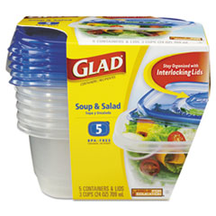 CLO60796PK - Clorox Professional Glad® GladWare® Plastic Containers with Lids