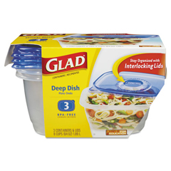 CLO70045PK - Glad® GladWare® Plastic Containers with Lids