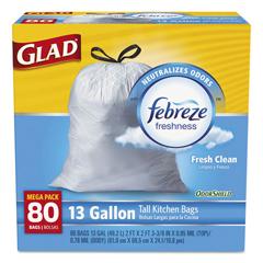 CLO78534CT - Glad® Tall Kitchen Drawstring Trash Bags