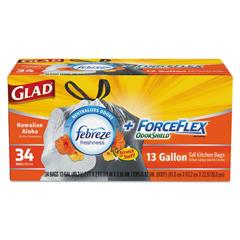 CLO78604CT - Glad® ForceFlex® OdorShield® Tall Kitchen Drawstring Bags