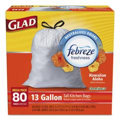 CLO78605CT - Glad® OdorShield® Tall Kitchen Drawstring Bags