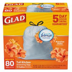 CLO78901 - Glad® OdorShield® Tall Kitchen Drawstring Bags