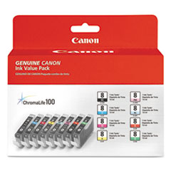 CNM0620B015 - Canon 0620B015 (CLI-8) Ink Tank, 8/Pack, Assorted