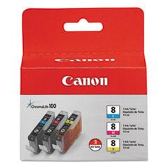 CNM0621B016 - Canon 0621B016 Chromalife Ink, 840 Page-Yield, 3/Pack, Cyan, Magenta, Yellow