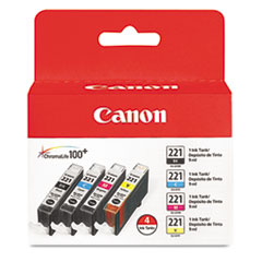 CNM2946B004 - Canon 2946B004 (CLI-221) Ink, 4/Pack, Tri-Color