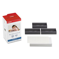 CNM3115B001 - Canon KP-108IN Color Ink Ribbon w/Glossy 4 x 6 Photo Paper Pack, 108 Sheets
