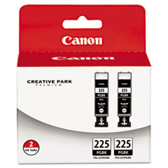 CNM4530B007AA - Canon 4530B007AA (PGI-225) Ink Tank, 38 mL , Black, 2/Pack