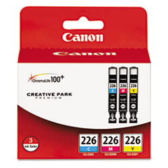 CNM4547B005 - Canon 4547B005 (CLI-226) Ink, Cyan, Magenta, Yellow, 3/Pk