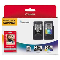 CNM5206B005 - Canon 5206B005 (PG-240, CL-241XL) High-Yld ChromaLife 100 Ink, Black, Tri-Color, 2/Pk