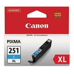 CNM6449B001 - Canon 6449B001 (CLI-251XL), High-Yield Ink, 11 mL, Cyan