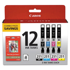 CNM6513B010 - Canon® 6513B010 Ink  Paper Pack