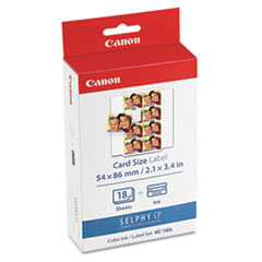 CNM7740A001 - Canon 7740A001 Ink Cartridge/Label Set, 18 Sheets, 8 Labels/Sheet, 9/10 x 7/10