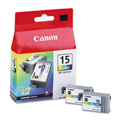 CNMBCI15 - Canon BCI15 (BCI-15) Ink, 130 Page-Yield, 2/Pack, Tri-Color