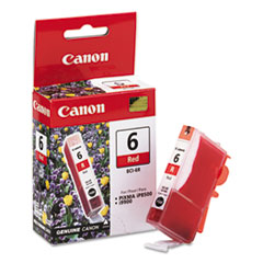 CNMBCI6R - Canon BCI6R (BCI-6) Ink Tank, 370 Page-Yield, Red