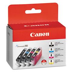 CNMCLI8 - Canon CLI8 (CLI-8) Ink Tank, 4/Pack, Black; Cyan; Magenta; Yellow