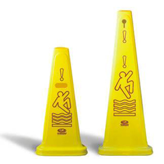 CON122YW - ContinentalTri-Cone™ Wet Floor Cones