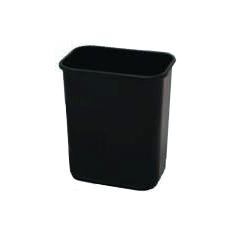 CON2818BK - ContinentalCommercial Plastic Rectangular Wastebaskets