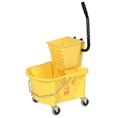 CON226-312YW - ContinentalSplash Guard™ Mop Bucket with Side-Press Combo Pack
